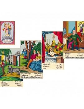 Biedermeier Aufschlagkarten...