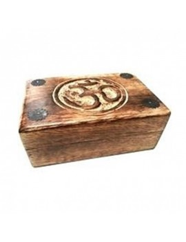 Ohm Engraved Tarot Wood Box